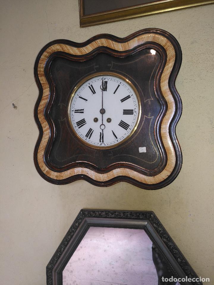 Vintage: Reloj isabelino con marquetería - Foto 5 - 154022714