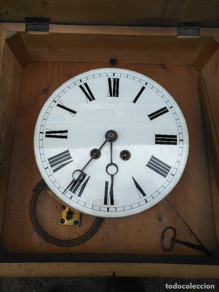 Vintage: Reloj isabelino con marquetería - Foto 8 - 154022714