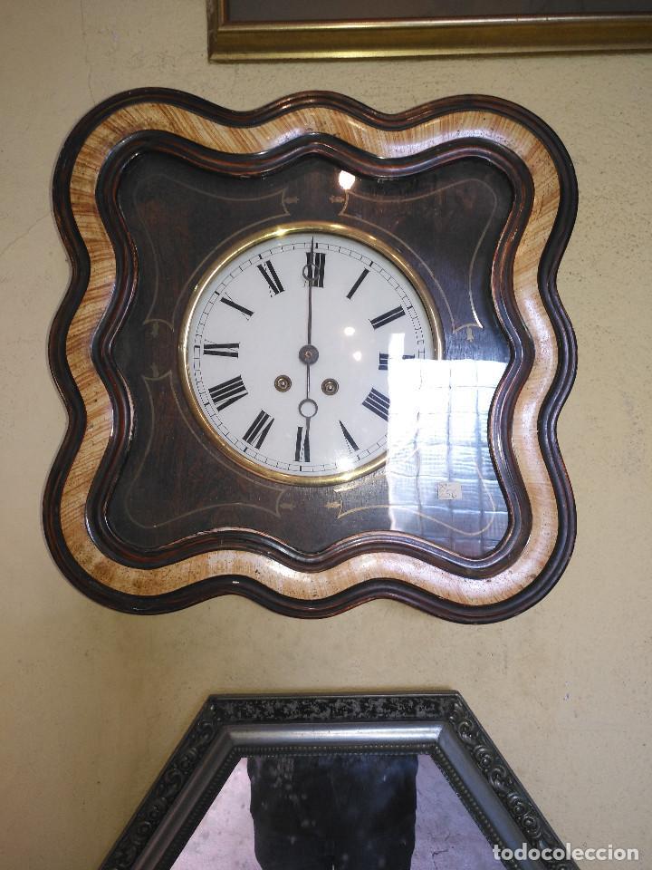 Vintage: Reloj isabelino con marquetería - Foto 9 - 154022714