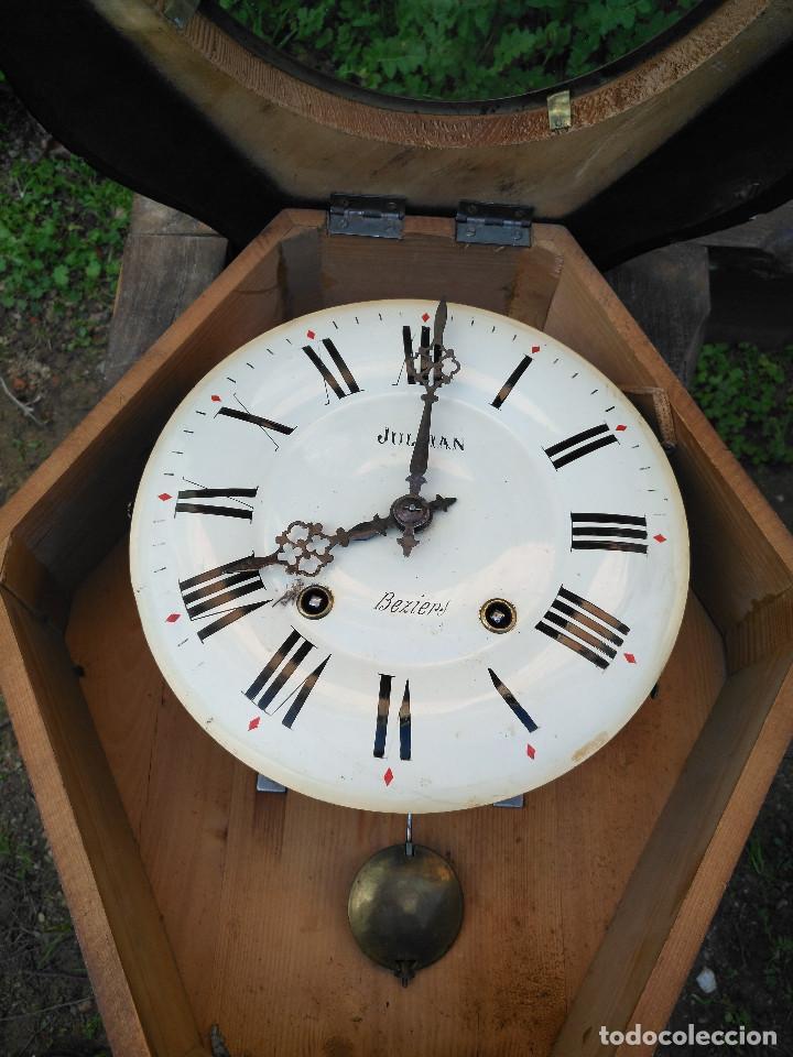 Vintage: Reloj isabelino con marquetería de madera - Foto 2 - 154028418
