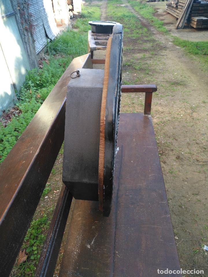 Vintage: Reloj isabelino con marquetería de madera - Foto 4 - 154028418