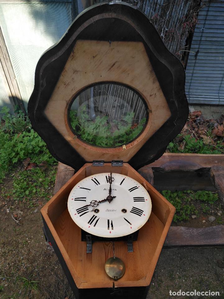 Vintage: Reloj isabelino con marquetería de madera - Foto 7 - 154028418