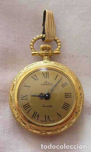 RELOJ DE COLGAR ITRACO DORADO (Relojes - Relojes Vintage )