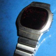 Vintage: RELOJ ANTIGUO, VINTAGE, LEDS ROJOS TEN-FOUR. Lote 156551102
