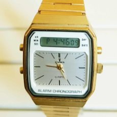Vintage: RELOJ CROWN ANALOGICO Y DIGITAL, VINTAGE, NOS (NEW OLD STOCK). Lote 157097954
