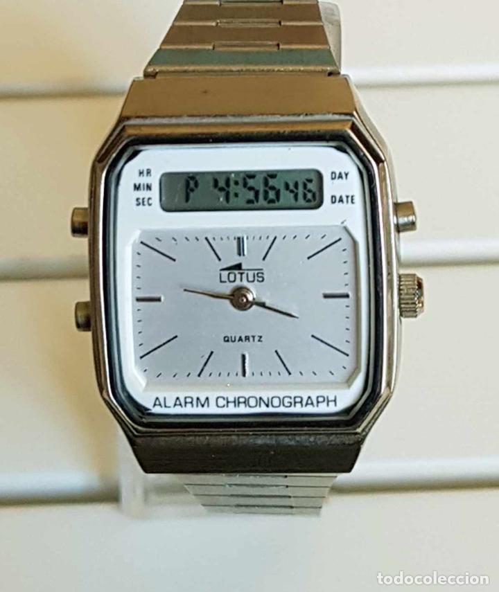 RELOJ LOTUS ANALOGICO Y DIGITAL, VINTAGE, NOS (NEW OLD STOCK) (Relojes - Relojes Vintage )
