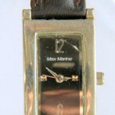 Vintage: RELOJ PULSERA VINTAGE MUJER - MAX MARINE, JAPAN MDVT - WATER RESISTANT - STAINLESS STEEL. Lote 157989518