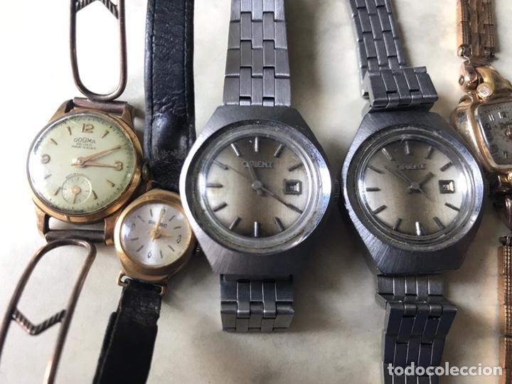 Vintage: Lote de relojes señora, DOGMA, CETIKON, LOTUS, ORIENT..para arreglar o piezas - Foto 3 - 158422494