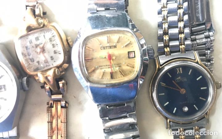 Vintage: Lote de relojes señora, DOGMA, CETIKON, LOTUS, ORIENT..para arreglar o piezas - Foto 4 - 158422494
