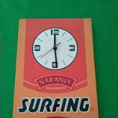 Vintage: RELOJ PUBLICIDAD REFRESCOS SURFING. Lote 159027978