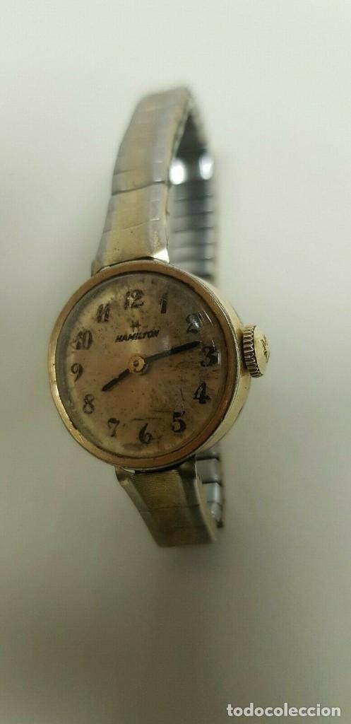 319- ANTIGUO RELOJ HAMILTON MUJER AÑOS 40-50 RARO DIFICIL CONSEGUIR COLECCIONISTA (Relojes - Relojes Vintage )