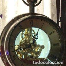 Vintage: ANTIGUO RELOJ VINTAGE CON DOBLE ESFERA DE CRISTAL. Lote 160973546