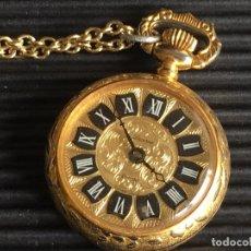 Vintage: PRECIOSO RELOJ SUIZO, DORADO, PARA COLGAR DE LA MARCA LUCERNE, UNAJUSTED, ONE 1 JEWEL. Lote 161759238