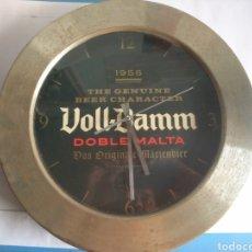 Vintage: RELOJ PARED RETRO VOLL-DAMM, FUNCIONANDO. Lote 163338918
