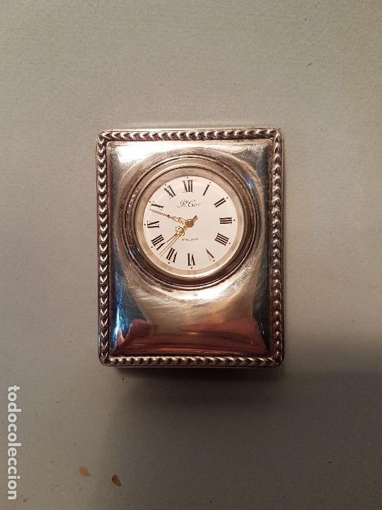 Vintage: RELOJ SOBREMESA FRONTAL EN PLATA CONTRASTES R.CARR ENGLAND - Foto 4 - 163598522