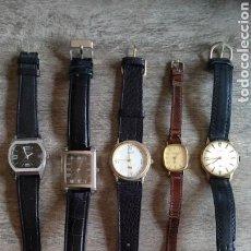 Vintage: 5 RELOJES USADOS PULSERA. Lote 166844942