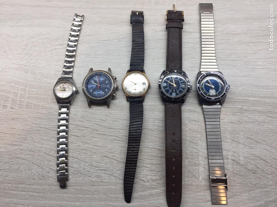 LOTE CINCO RELOJ (Relojes - Relojes Vintage )