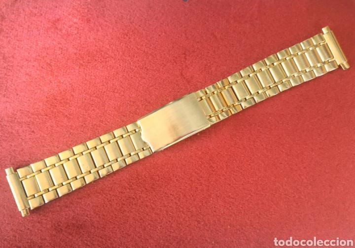 ARMIS/BRAZALETE RACING-DIVER 16MM-22MM DORADO (Relojes - Relojes Vintage )