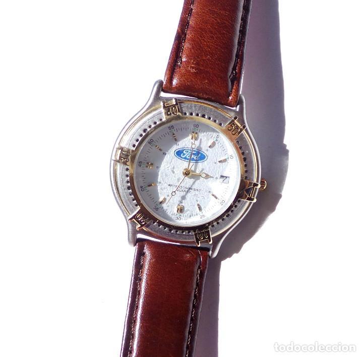 RELOJ DE PUBLICIDAD FORD. QUARTZ. FUNCIONA PERFECTAMENTE. SIN ESTRENAR. (Relojes - Relojes Vintage )