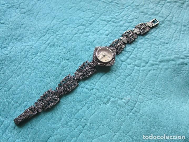 RELOJ PULSERA DE PLATA NOWLEY QUARTZ PLATA 925 FUNCIONA PLATA DE LEY (Relojes - Relojes Vintage )