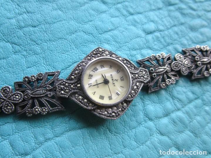 Vintage: reloj pulsera de plata nowley quartz plata 925 funciona plata de ley - Foto 2 - 168384172