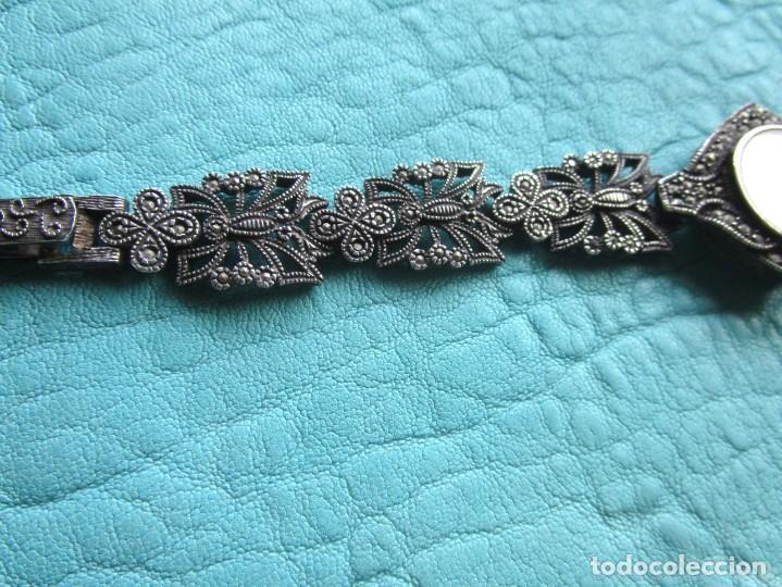 Vintage: reloj pulsera de plata nowley quartz plata 925 funciona plata de ley - Foto 3 - 168384172