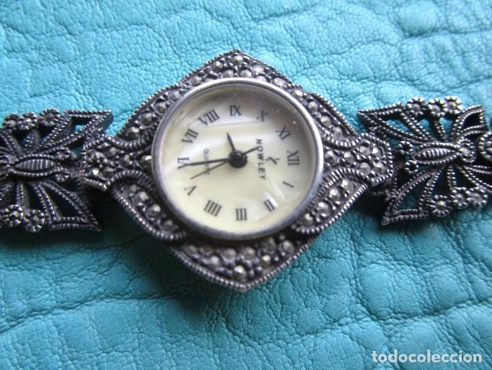 Vintage: reloj pulsera de plata nowley quartz plata 925 funciona plata de ley - Foto 5 - 168384172