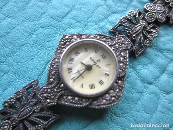 Vintage: reloj pulsera de plata nowley quartz plata 925 funciona plata de ley - Foto 6 - 168384172