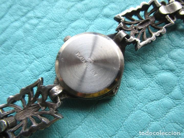 Vintage: reloj pulsera de plata nowley quartz plata 925 funciona plata de ley - Foto 9 - 168384172