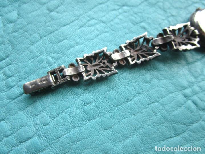 Vintage: reloj pulsera de plata nowley quartz plata 925 funciona plata de ley - Foto 10 - 168384172