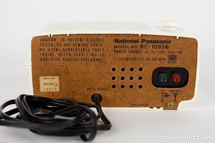 Vintage: Radio Reloj despertador National Panasonic Flip Clock blanco retro space age Japan años 70 - Foto 6 - 169288508