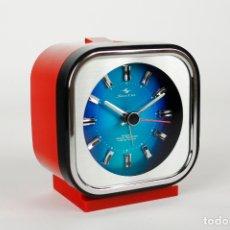 Vintage: RELOJ DESPERTADOR SILICON CLOCK SPACE AGE RETRO ROJO VINTAGE JAPAN 70S. Lote 171084265