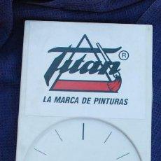 Vintage: RELOJ PARED PLÁSTICO PUBLICIDAD TITAN TITANLUX PINTURAS. Lote 171365435
