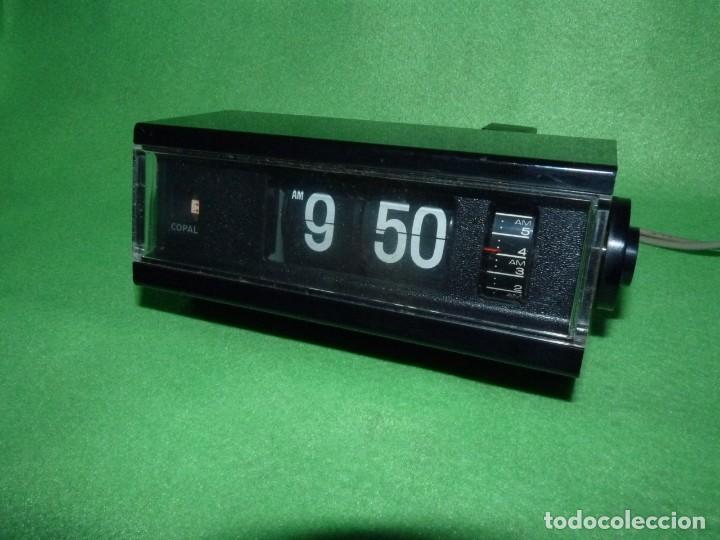 FANTASTICO RELOJ COPAL NUMEROS VOLCANTES DESPERTADOR FLIP CLOCK VINTAGE AÑOS 70 JAPAN VINTAGE (Relojes - Relojes Vintage )