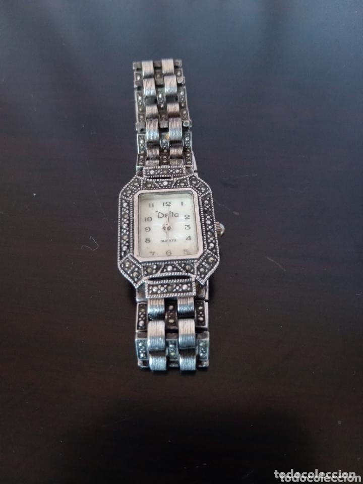 Vintage: Reloj vintage mujer de plata 925 marca Delta con marcasitas - Foto 3 - 172816058