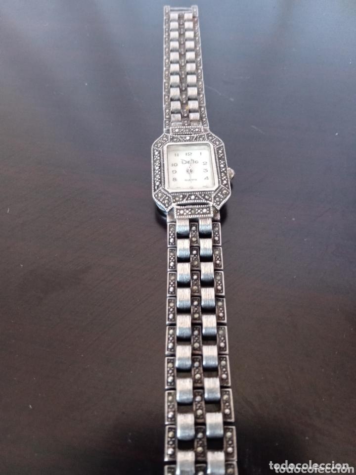 Vintage: Reloj vintage mujer de plata 925 marca Delta con marcasitas - Foto 4 - 172816058