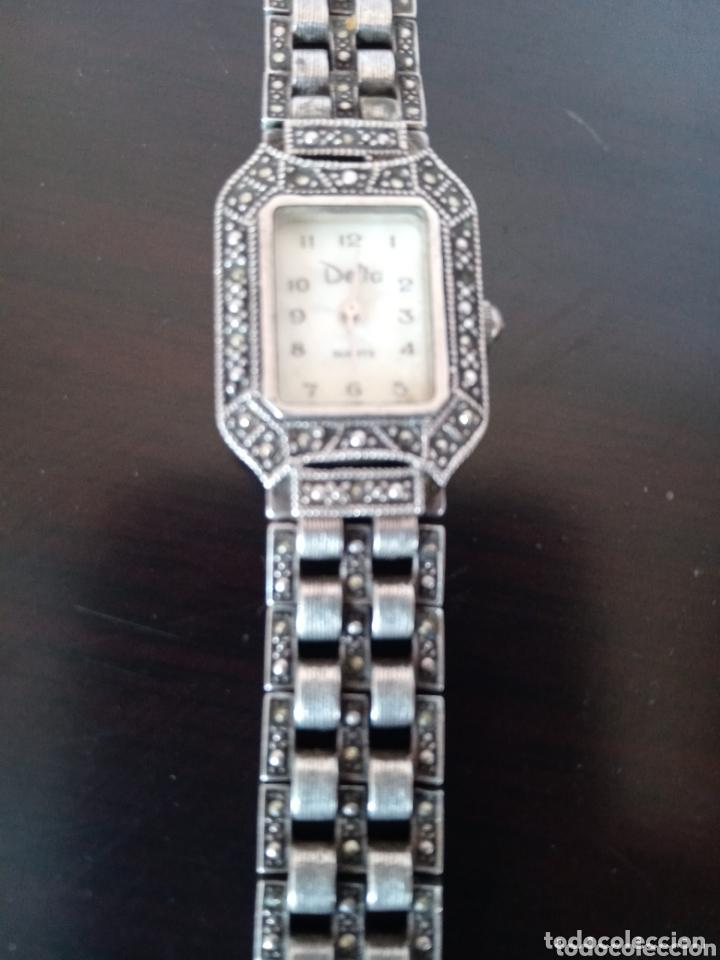 Vintage: Reloj vintage mujer de plata 925 marca Delta con marcasitas - Foto 5 - 172816058