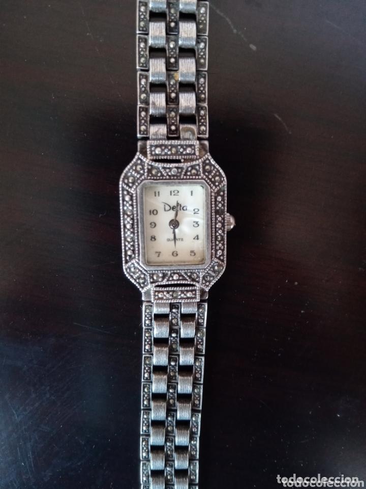 Vintage: Reloj vintage mujer de plata 925 marca Delta con marcasitas - Foto 6 - 172816058