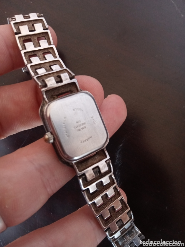 Vintage: Reloj vintage mujer de plata 925 marca Delta con marcasitas - Foto 8 - 172816058
