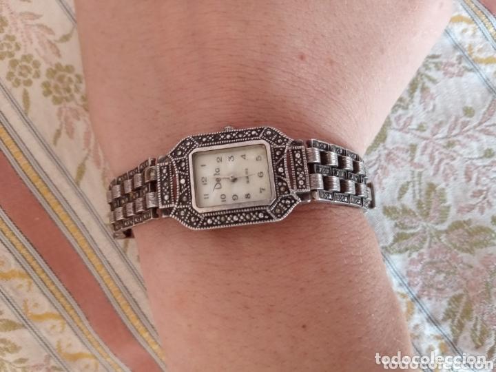 Vintage: Reloj vintage mujer de plata 925 marca Delta con marcasitas - Foto 10 - 172816058