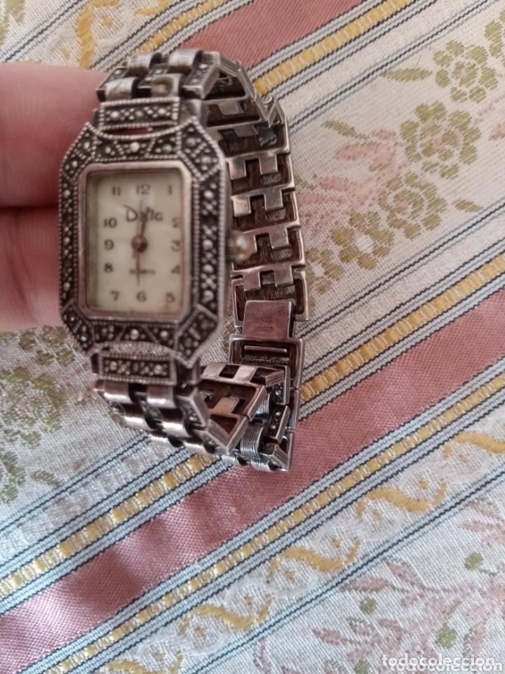 Vintage: Reloj vintage mujer de plata 925 marca Delta con marcasitas - Foto 11 - 172816058