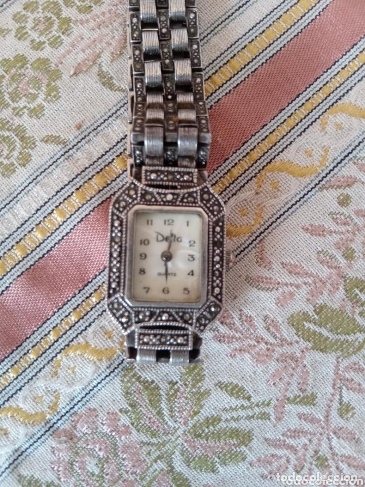 Vintage: Reloj vintage mujer de plata 925 marca Delta con marcasitas - Foto 12 - 172816058