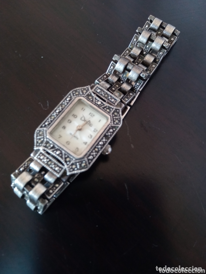 Vintage: Reloj vintage mujer de plata 925 marca Delta con marcasitas - Foto 2 - 172816058