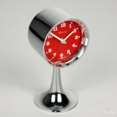 Vintage: RELOJ DESPERTADOR BLESSING CROMADO TULIP SPACE AGE WEST GERMANY AÑOS 70. Lote 173000048