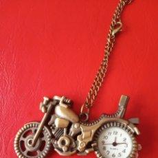 Vintage: RELOJ BOLSILLO, COLGANTE MOTO ANTIGUA VINTAGE. Lote 172226465