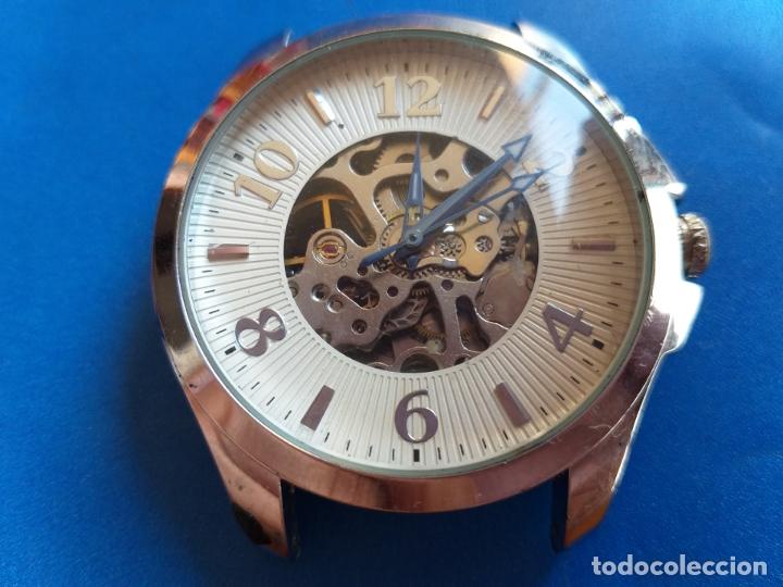 Vintage: Reloj con maquinaria vista. Por delante y por detrás. - Foto 2 - 173385660