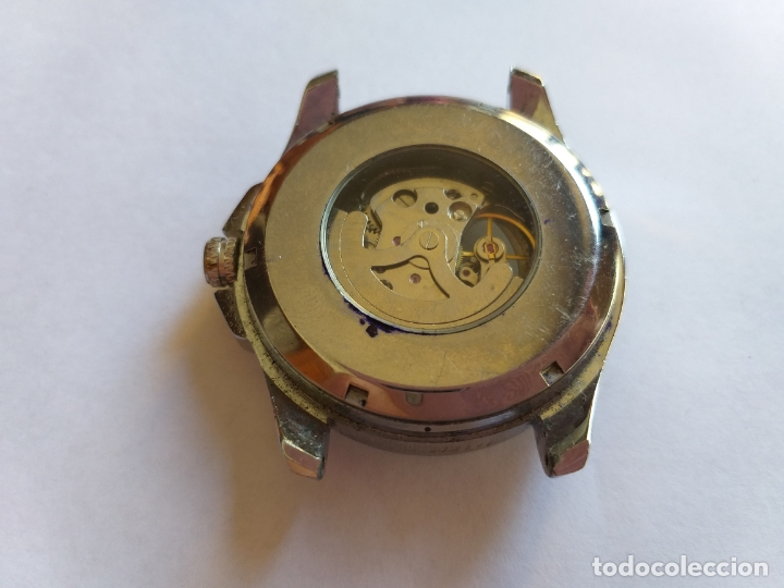 Vintage: Reloj con maquinaria vista. Por delante y por detrás. - Foto 3 - 173385660