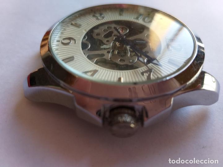 Vintage: Reloj con maquinaria vista. Por delante y por detrás. - Foto 4 - 173385660