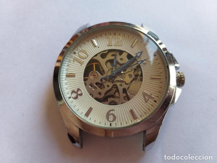 RELOJ CON MAQUINARIA VISTA. POR DELANTE Y POR DETRÁS. (Relojes - Relojes Vintage )