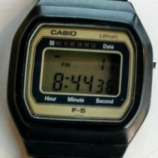 Vintage: RELOJ DIGITAL. CASIO LITHIUM F-5. 1980.. Lote 173534983